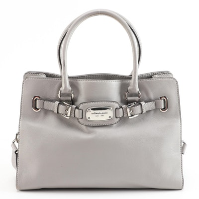 MICHAEL Michael Kors Gray Grained Leather Convertible Tote