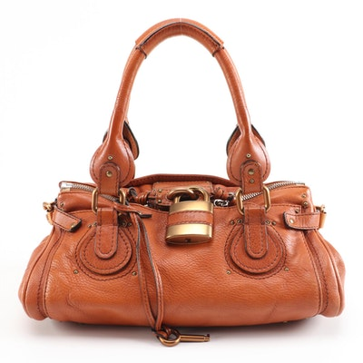 Chloé Paddington Satchel in Nutmeg Grained Leather