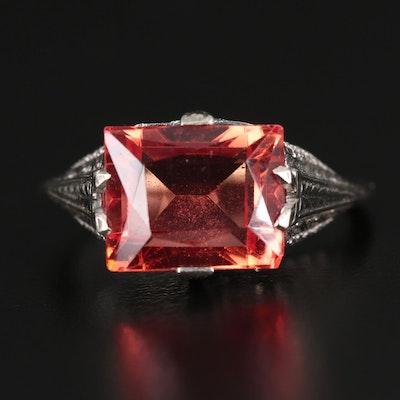 Art Deco 18K Sapphire Ring