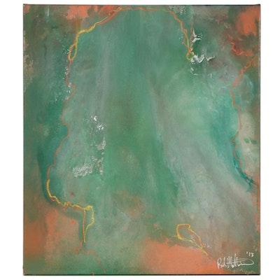 """Paul Mathisen Mixed Media Painting """"Summer Rain"""", 2013"""