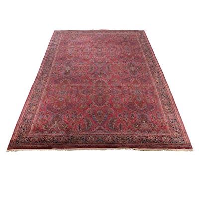 "11'5 x 20'4 Hand-Knotted Karastan ""Sarouk"" Palace Sized Wool Rug"