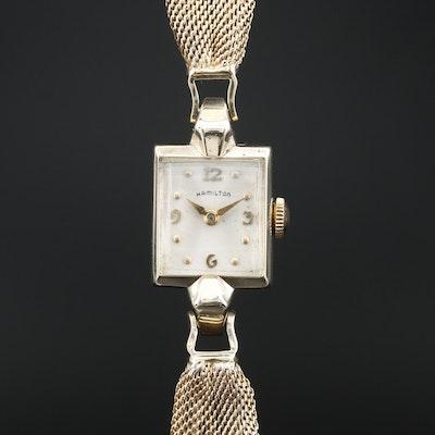 """14K Hamilton """"Vicki-B"""" Stem Wind Wristwatch"""