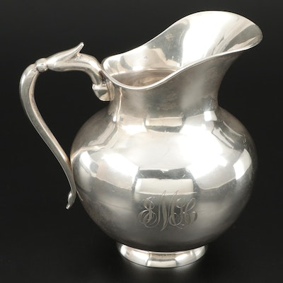 Sanborns Sterling Silver Water Pitcher, Mid to Late 20th Century