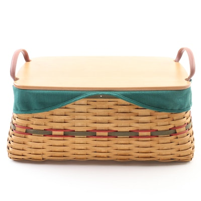 Longaberger Handwoven Treasures Basket with Plastic Liners, 2002