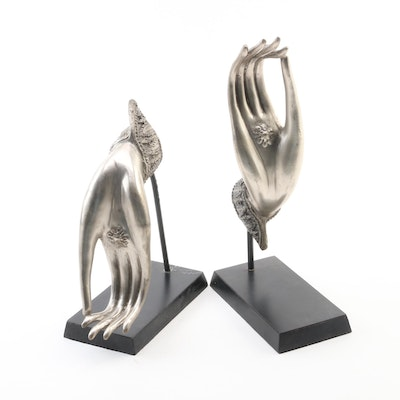 Thai Bronze Hands of Buddha in Vitarka Mudra