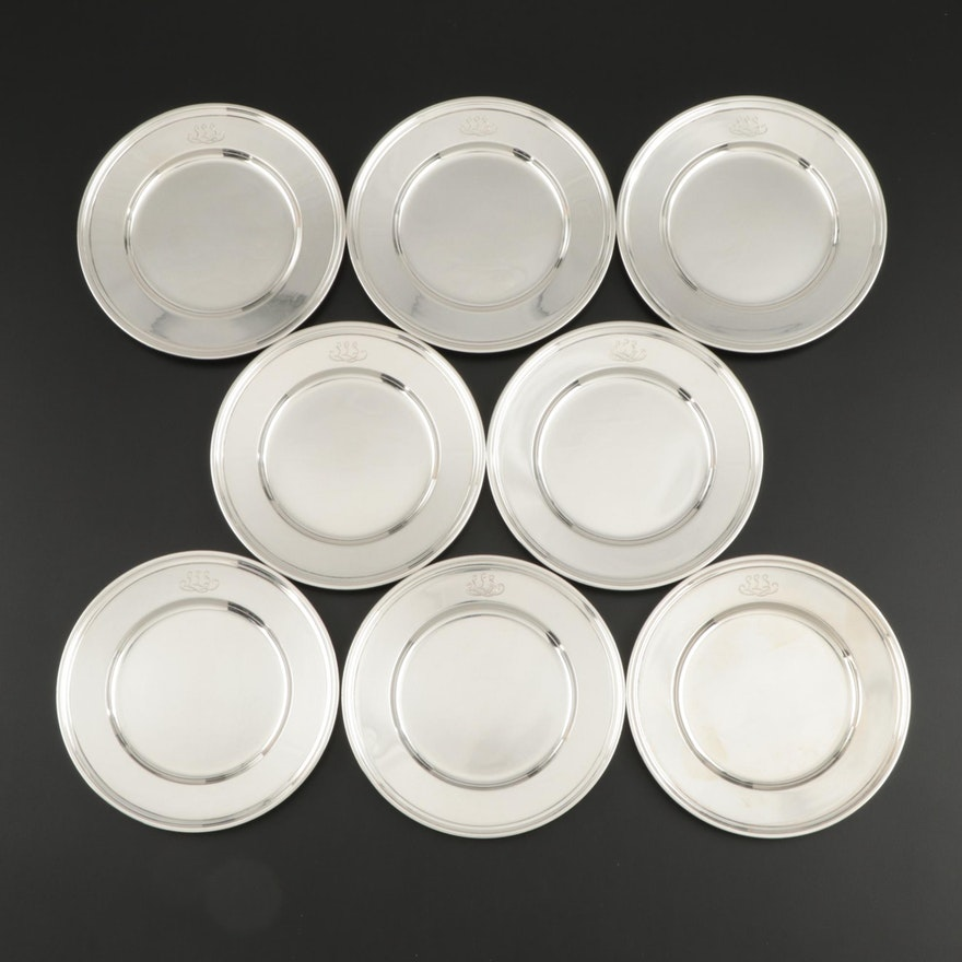 "Tiffany & Co. ""Hamilton"" Sterling Silver Bread and Butter Plates"