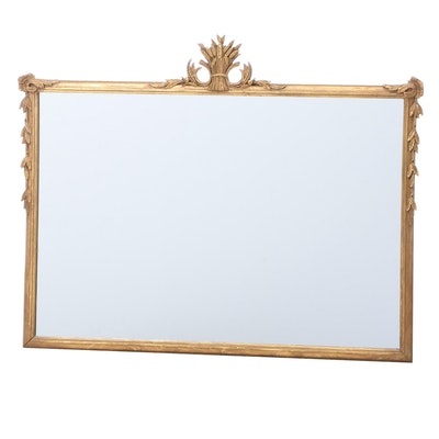 Carved Giltwood Overmantel Mirror, Early to Mid-20th Century