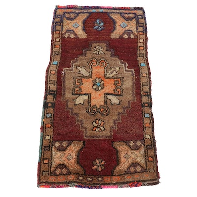 1'8 x 3'0 Hand-Knotted Turkish Yuruk Wool Rug