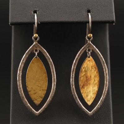 Gurhan Sterling Silver Hammered Dangle Earrings