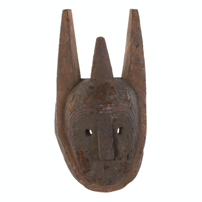 Bamana Inspired Wood Carved Mask, 20th Century