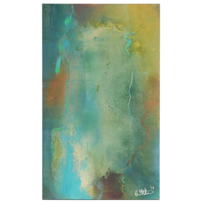 "Paul Mathisen Mixed Media Painting ""Summer Thunder"", 2013"