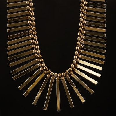 14K Graduated Fringe Necklace
