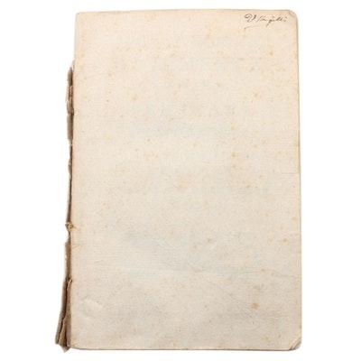 """""""Linguae sanctae rudimenta ad usum Seminari Neapolitani"""" by Ignazi Calce, 1781"""