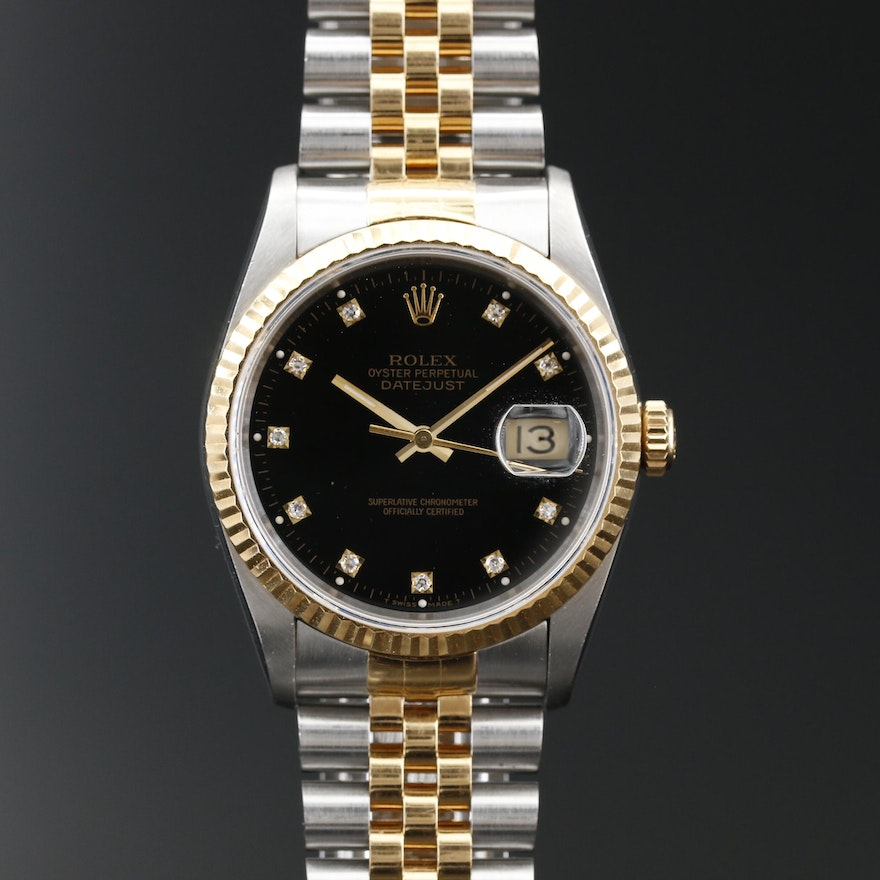 1991 Rolex Datejust 18K and Stainless Steel 36.0 MM Automatic Wristwatch
