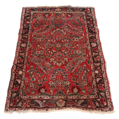 2'8 x 3'10 Hand-Knotted Persian Lilihan Wool Rug