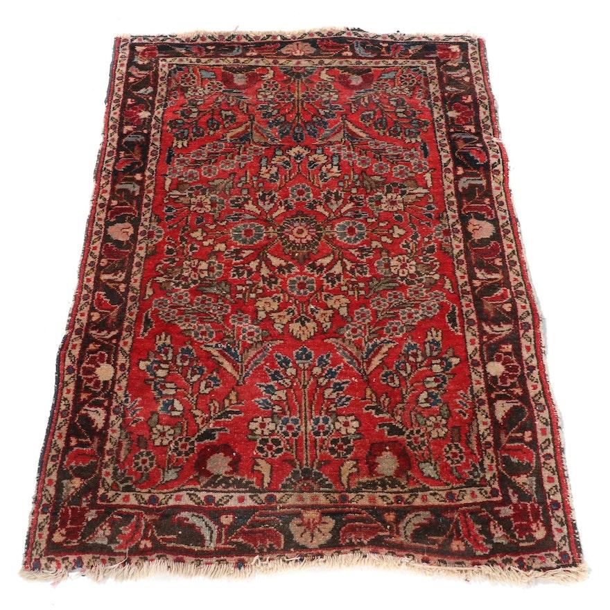 2'8 x 3'10 Hand-Knotted Persian Lilihan Wool Rug