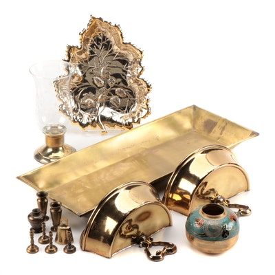 Brass Tone Trays, Wall Sconces, Candle Sticks and Other Home Décor