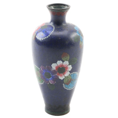 Japanese Aventurine Cloisonné Enamel Vase, Early 20th Century