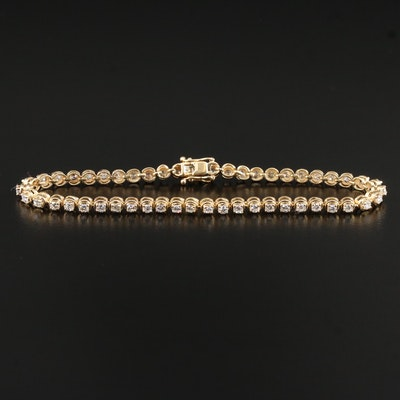 14K 1.75 CTW Diamond Line Bracelet