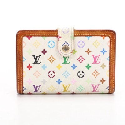 Louis Vuitton Portefeuille Viennois Wallet in Multicolore Canvas and Leather