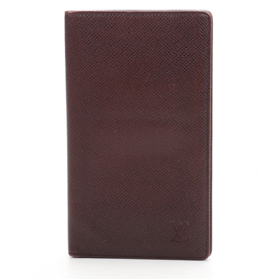 Louis Vuitton Long Wallet in Bordeaux Taiga Leather