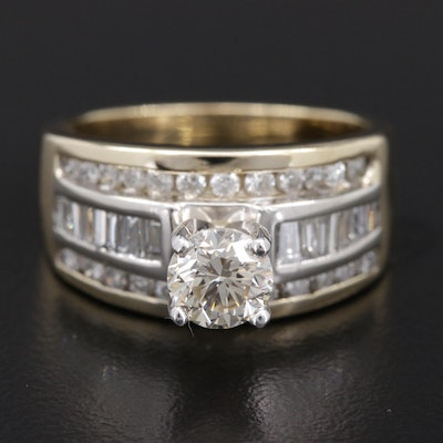 14K Yellow Gold 1.67 CTW Diamond Ring