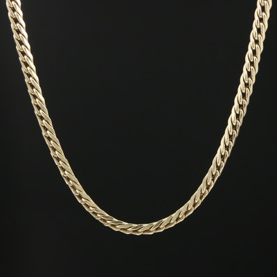 14K Yellow Gold Curb Link Chain