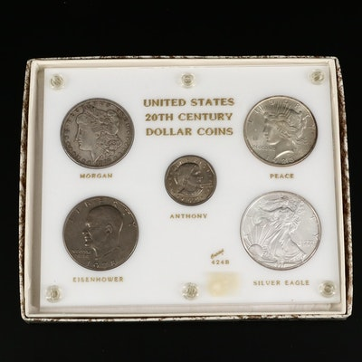 U.S. 20th Century Dollar Coins Set