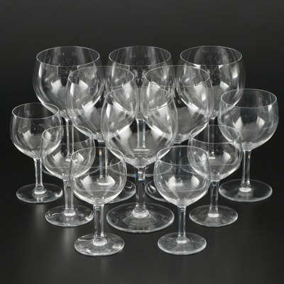 """Baccarat """"Rabelais"""" Crystal Water Goblets, Port Glasses and Claret Glass"""