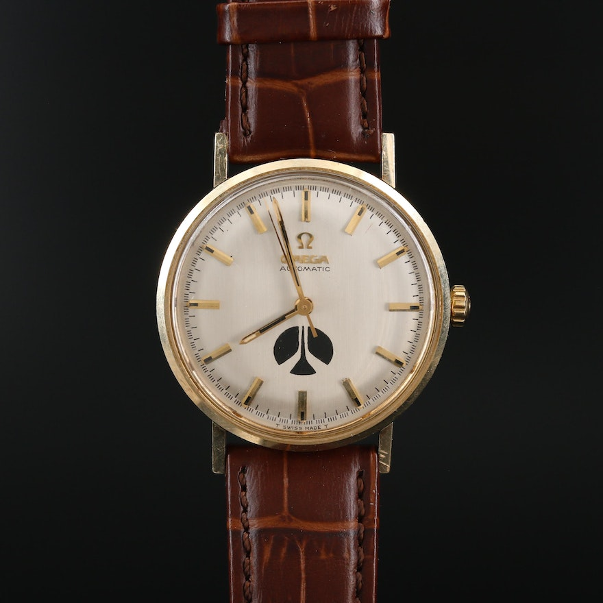 1969 Omega 14K Gold Filled Rockwell Award Wristwatch