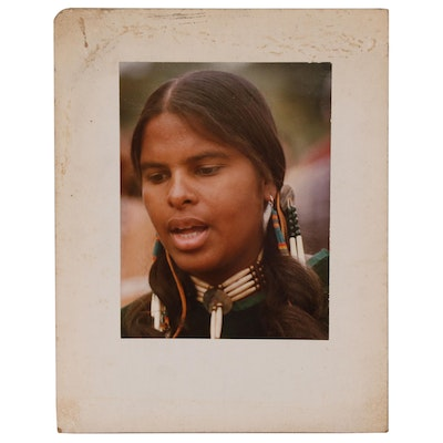 "Color C-Print Photograph ""Indian Girl"", 1984"