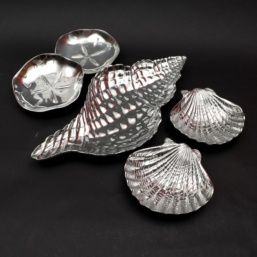 Mariposa Aluminum Shell Serving Bowls