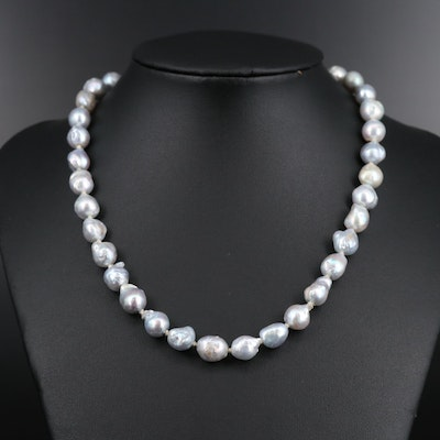 Individually Knotted Pearl Strand with 14K Clasp