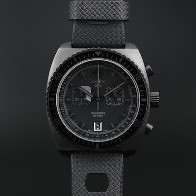 Zodiac Sea Dragon Chronograph Stainless Steel Quartz Wristwatch