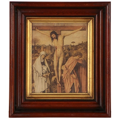 Letterpress Halftone Print of the Crucifixion, Early 20th Century