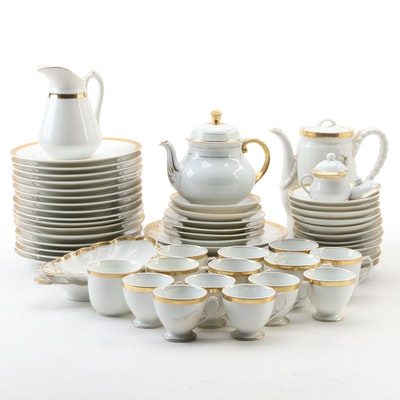 Haviland and Other Continental Gilt Porcelain Luncheon Wares