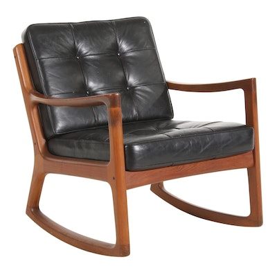 Ole Wanscher for France & Son Danish Modern Teak Rocking Chair
