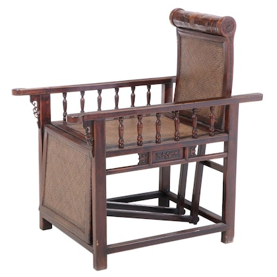 Chinese Hardwood Reclining Armchair