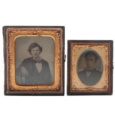 Tintype Portrait Photographs, Mid 19th Century