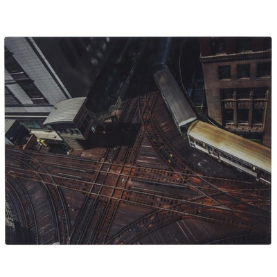 "Bobbie Teal Photograph on Metal ""Change (Chicago)"""