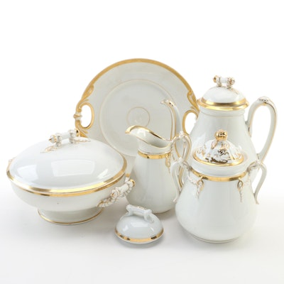 Haviland Limoges Gilt Porcelain Serveware, Late 19th Century
