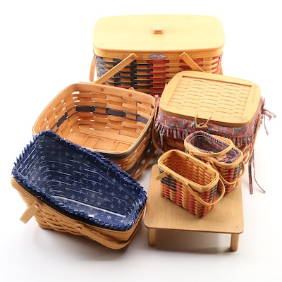 Longaberger Basket Including 25th Anniversary Collectors Club Edition Baskets