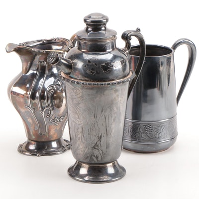 Gorham and Other Silver Plate Pitchers