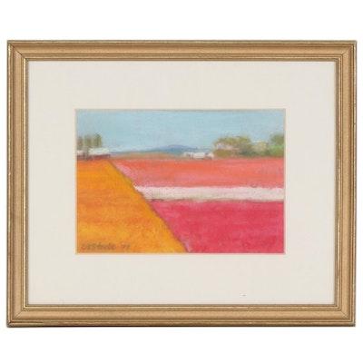 Rural Landscape Pastel Drawing, 1995