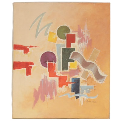 Gordon Elmer Keith Painting of Abstract Shapes