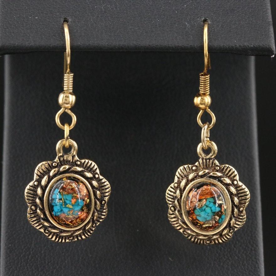 Western Style Drop Earrings