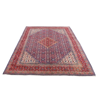9'8 x 12'9 Hand-Knotted Persian Mahal Room Sized Rug, 1960s