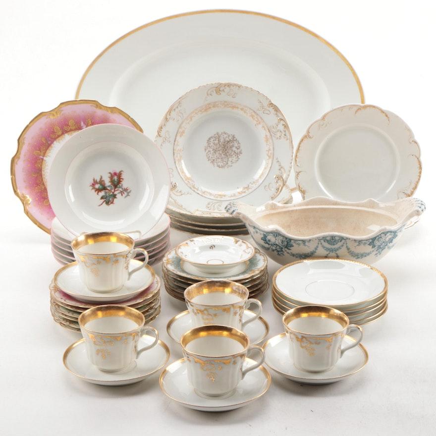 Limoges, Haviland Limoges, and Wedgwood Porcelain Dinnerware