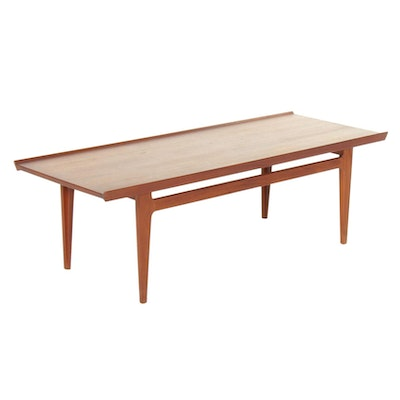 Finn Juhl for France & Sons Danish Modern Teak Coffee Table, Mid 20th Century