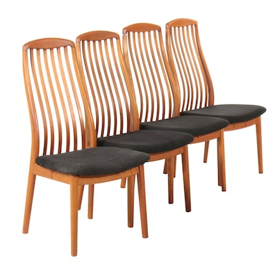 Four Kai Kristiansen for Schou Andersen Dining Chairs, 20th Century